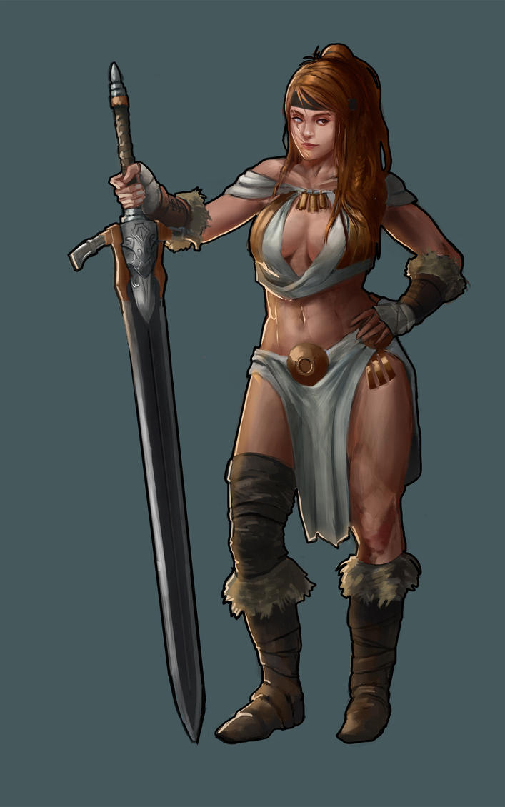 Fem Barbarian Commission by L3monJuic3
