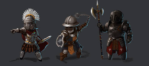 For Honor | Centurion, Conqueror, Lawbringer by L3monJuic3