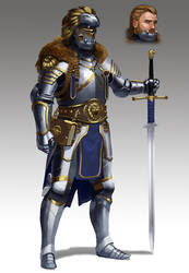 Commission - Lion Knight by L3monJuic3