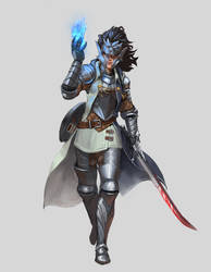 Commission  - Half-Elf Eldritch Knight
