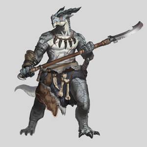 Commission - Dragonborn Barbarian