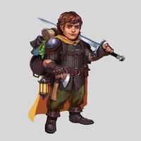 Commission - Halfling Fighter