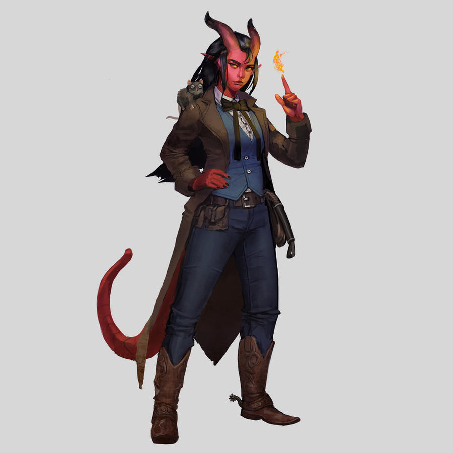 Commission - Tiefling Sheriff