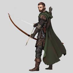 Commission - Half-Elf Ranger