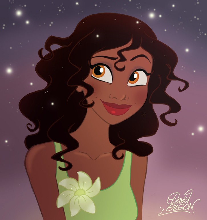 Tiana Hair Down by princekido