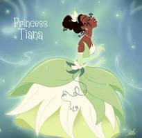 Tiana becoming a princess... by princekido