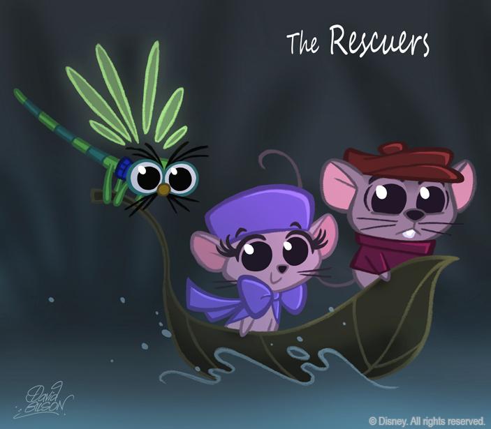 50 Chibis Disney : Rescuers by princekido