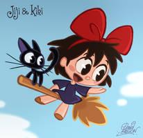 Chibis Jiji and Kiki