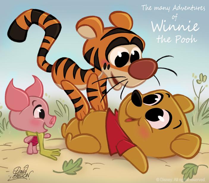 50 Chibis Disney : Winnie Pooh by princekido