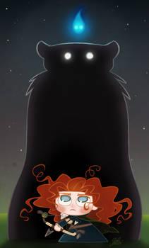 Chibie Merida in Pixar's Brave