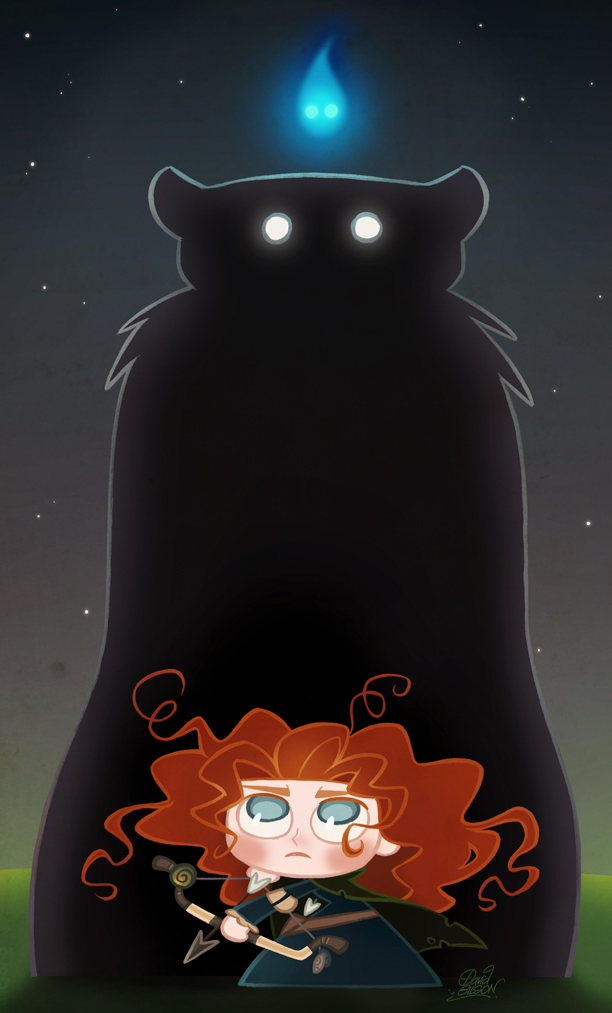 Chibie Merida in Pixar's Brave by princekido