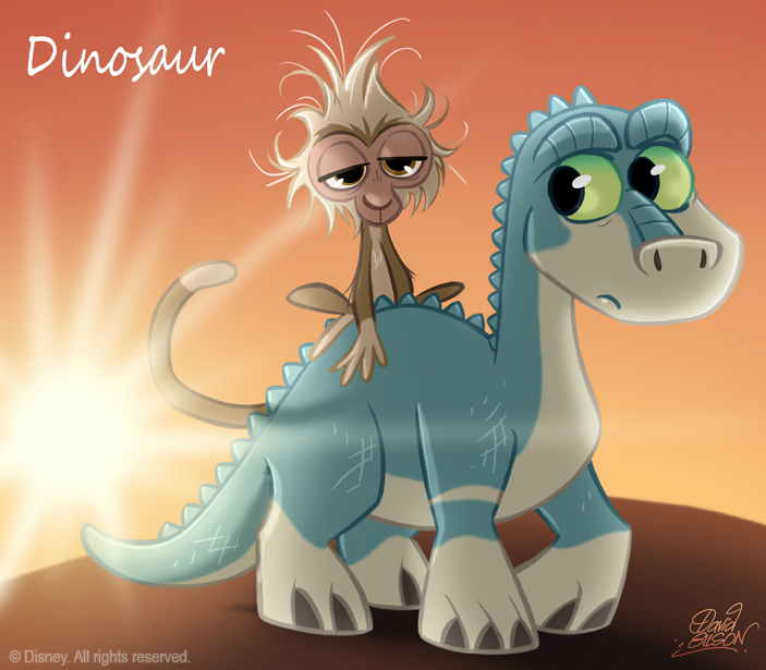 50 Chibis Disney : Dinosaur by princekido
