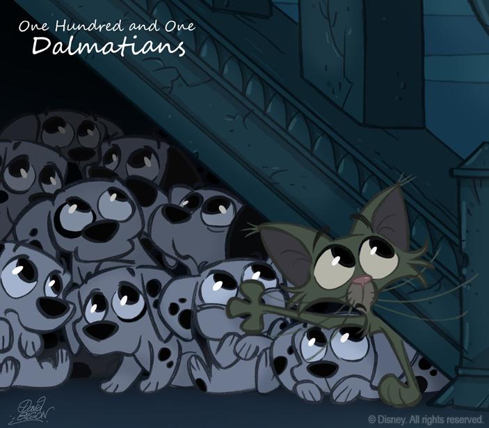 50ChibisDisney: 101 Dalmatians by princekido