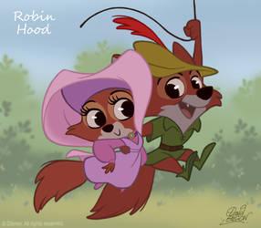 50 Chibis Disney : Robin Hood by princekido