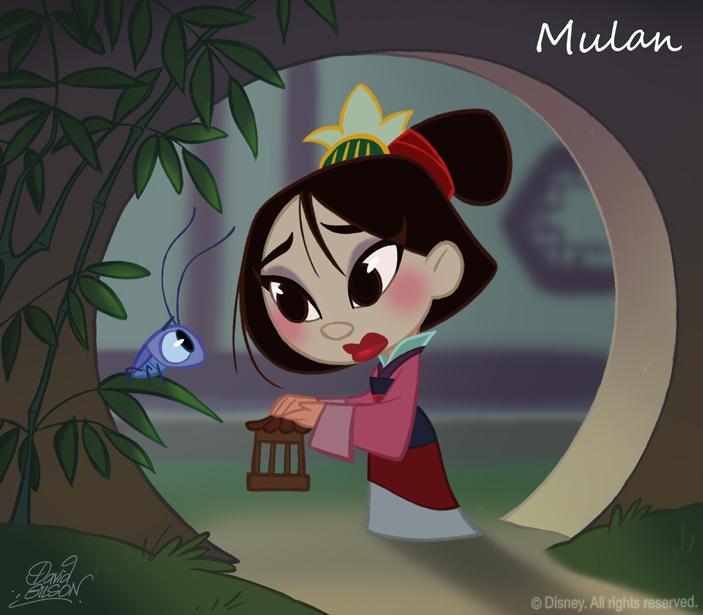 50 Chibis Disney : Mulan by princekido