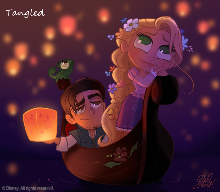 50 Chibis Disney : Tangled _ Rapunzel by princekido