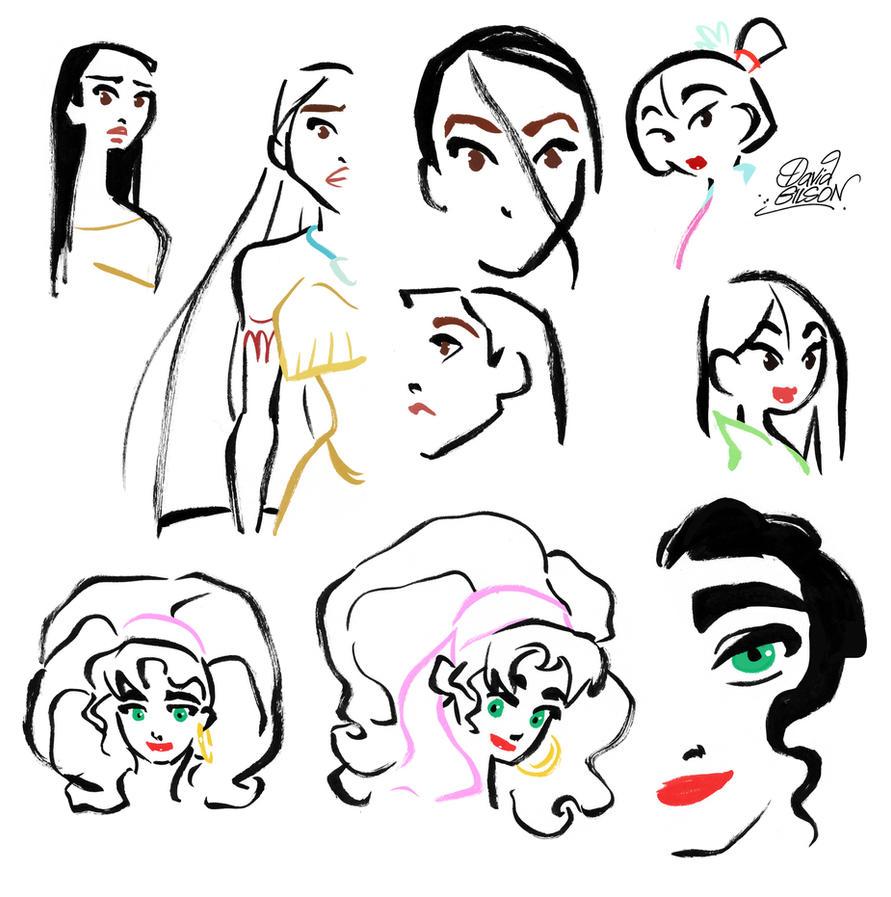 Inked Disney's Heroines Part 2 by princekido