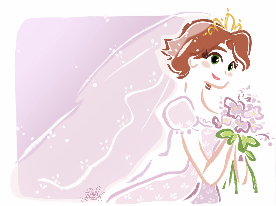 Princess Rapunzel Bride by princekido