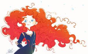 New Pixar's Merida doodle from Brave