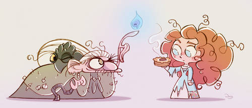 Chibies Merida and Witch by princekido