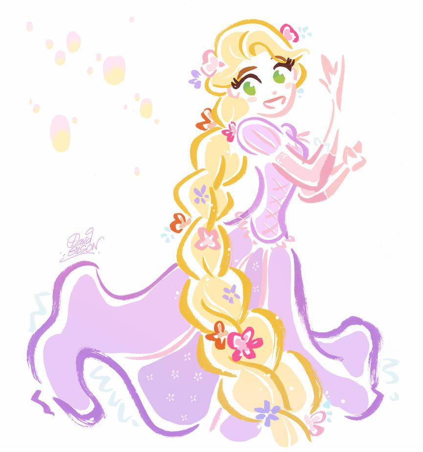 Dance Rapunzel, dance ! by princekido