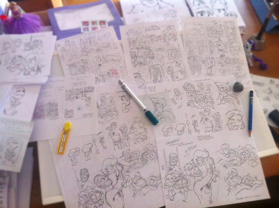 Work in Progress de ma BD BICHON by princekido
