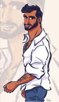 L'Homme a la chemise qui avait la peau mate by princekido