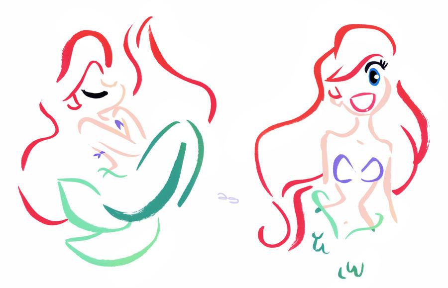 Stylized Disney's Ariel by princekido on DeviantArt