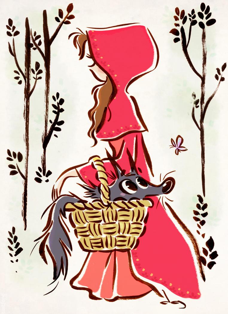 Un ptit loup dans mon panier by princekido