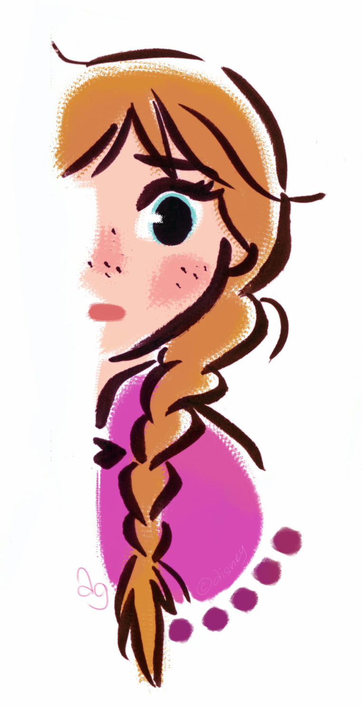 Stylized Princess Anna from Disney's Frozen by princekido