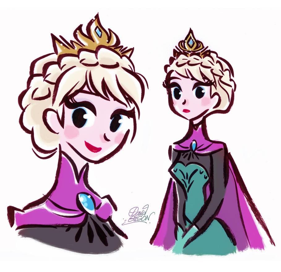 Stylized Queen Elsa from Disney's Frozen by princekido