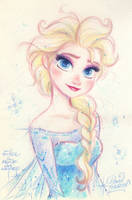 ELSA the Snow Queen from Disney's FROZEN by princekido