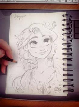 Quick Disney's Rapunzel sketch