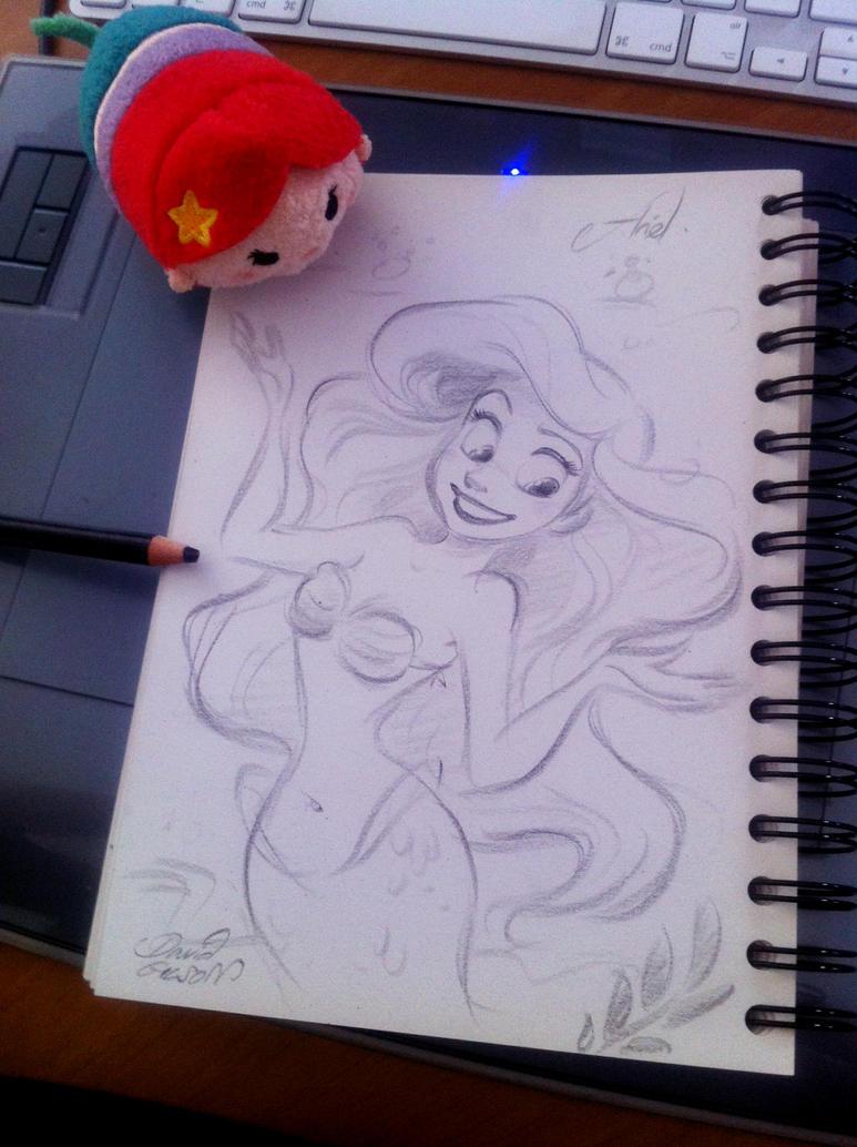 Quick sketch of Disney's Ariel by princekido
