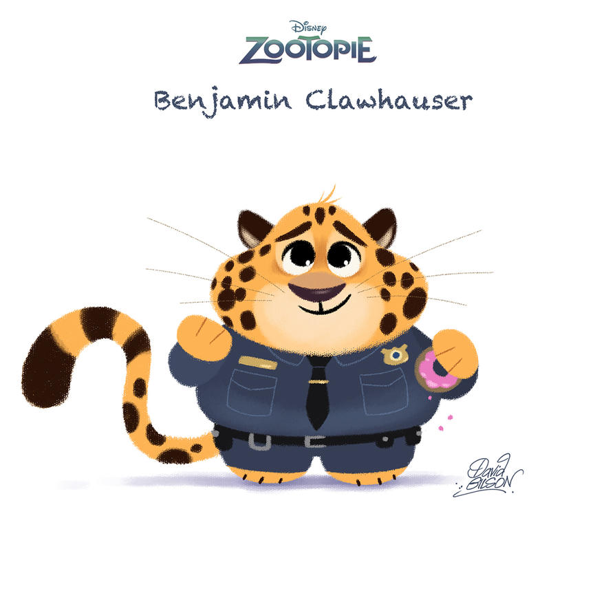 Chibi-Clawhauser-Gilson-70 by princekido