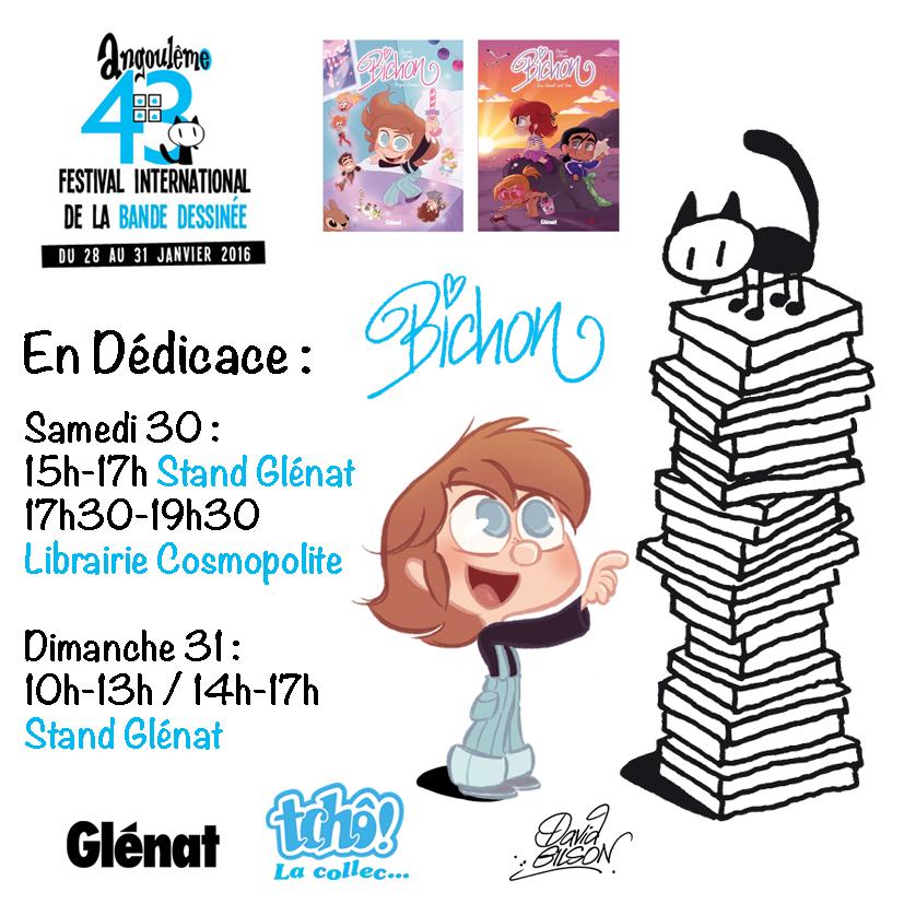 MAJ Dedicaces de Bichon au Festival BD d'Angouleme by princekido