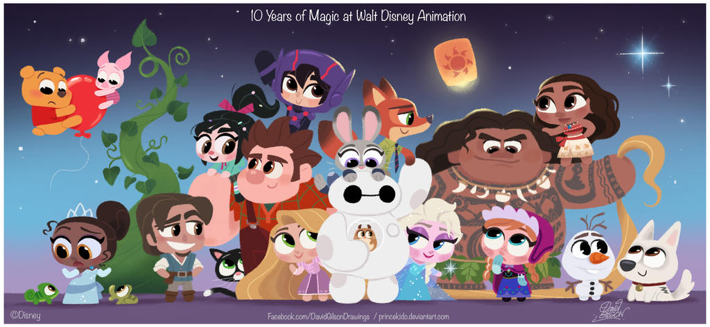 10 Years of Magic at Walt Disney Animation tribute by princekido