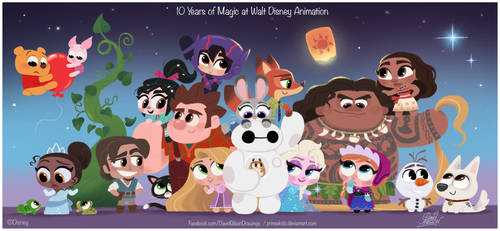 10 Years of Magic at Walt Disney Animation tribute