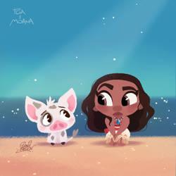 Disney's Pua and Moana by princekido