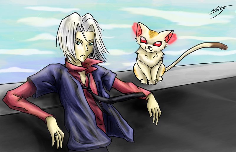 Gokudera and Uri by MarryFall