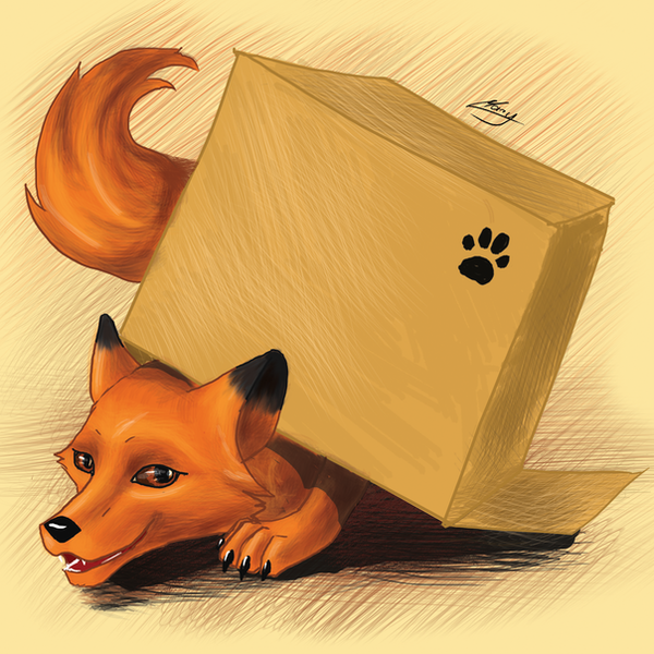 Fox in box by MarryFall