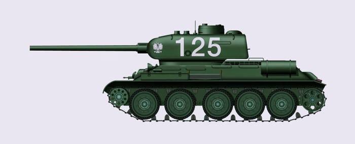 WW2 Polish T-34/85 Tank