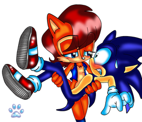 My turn to carry you Sonic by jayfoxfire