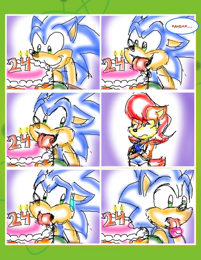 Sonic's 24th birthday short comic 1 by jayfoxfire