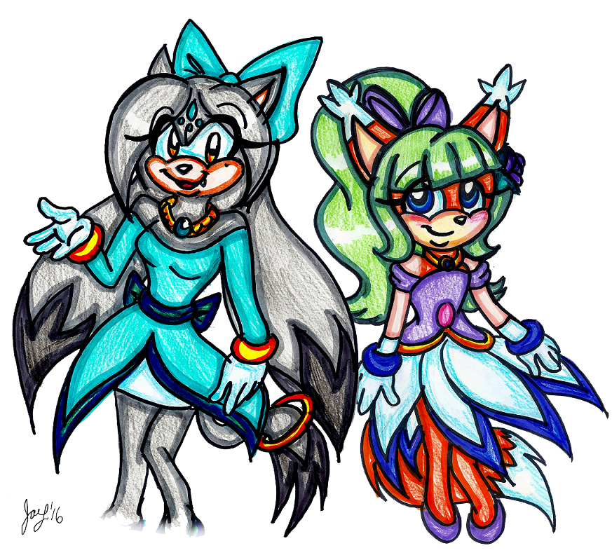 Ember and Rose by jayfoxfire