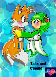 Tails and Cosmo blushing