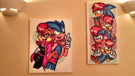 Sonic's family Canvas by jayfoxfire