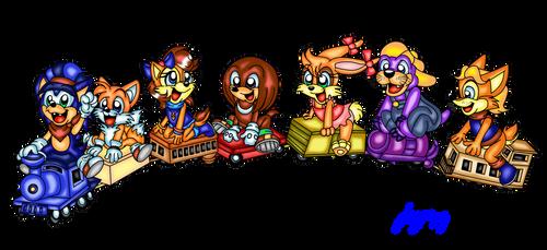 Sonic Kids choo choo train fun
