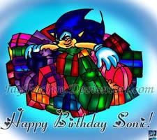 Happy 16th Birthday Sonic by jayfoxfire
