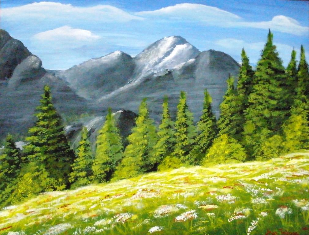 mountains pine trees - photo #5